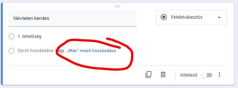 opció regisztráció kérdése)