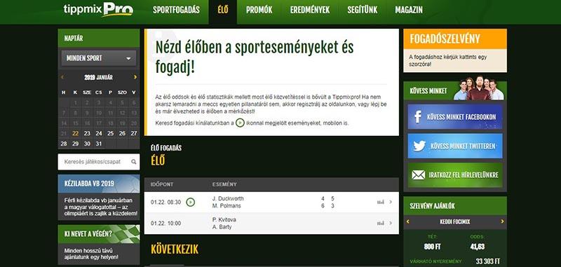 Online Sportfogadás Oldalak - A Legjobb Fogadóirodak ben
