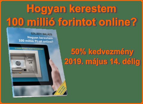 100 pénzt keresni online