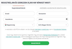 opciók regisztrációs bónusz)
