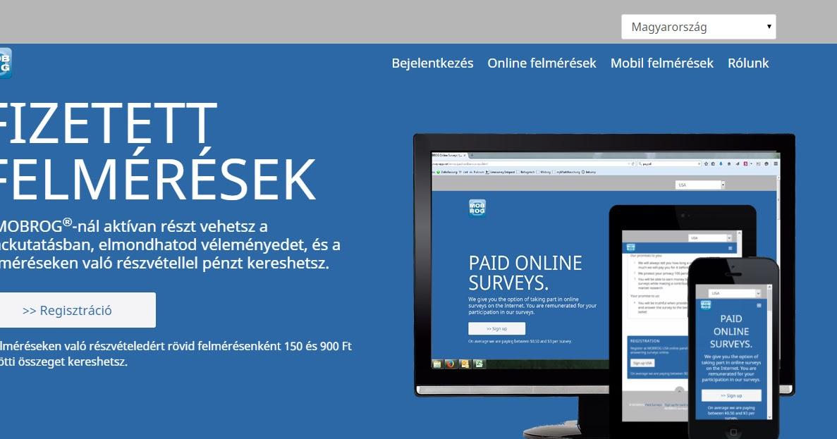 weboldalon pénzt keresni az interneten