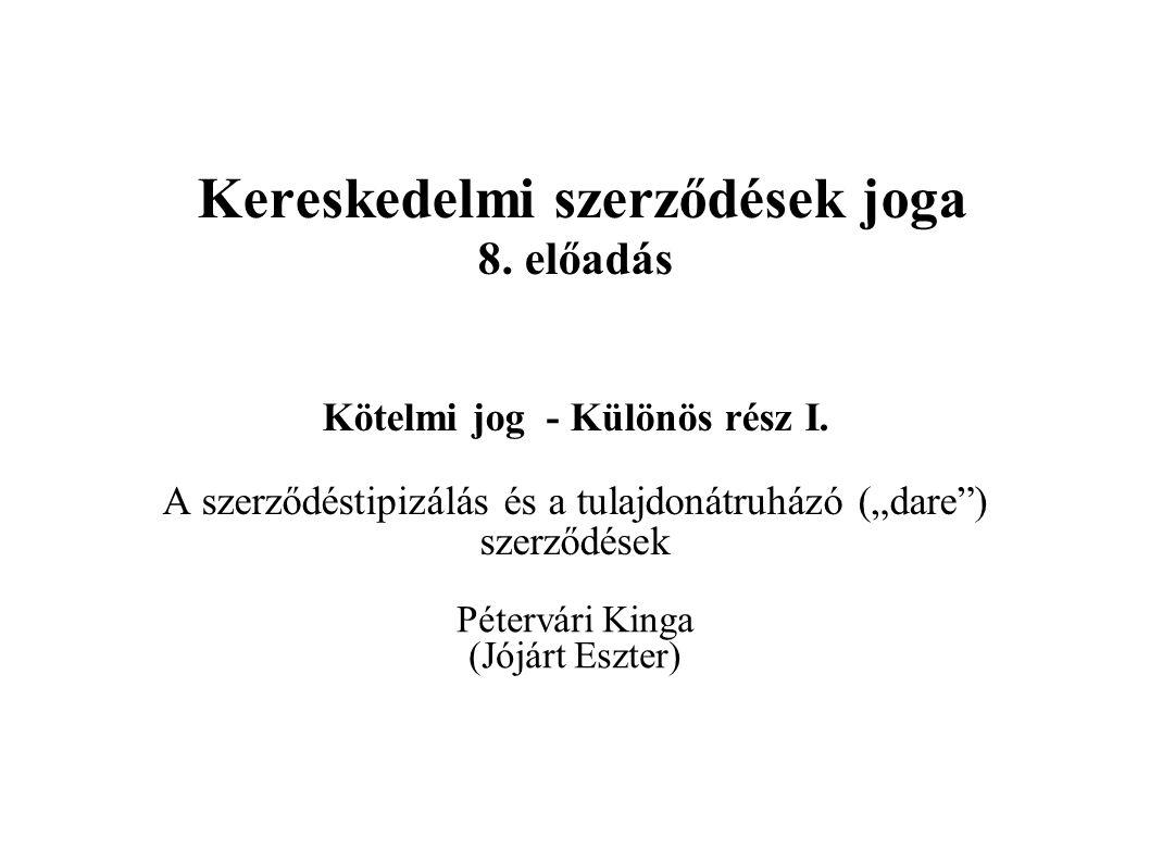 opciós szerződés szabvány)