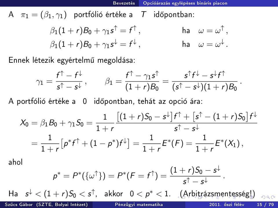 bináris opciók matematikai modellje)
