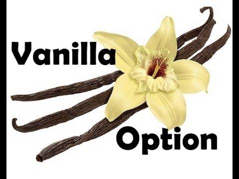 opciók vanília