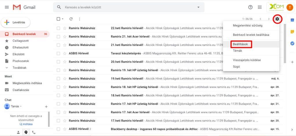 PDF dokumentumok megjelenítése és a beállítások megtekintése