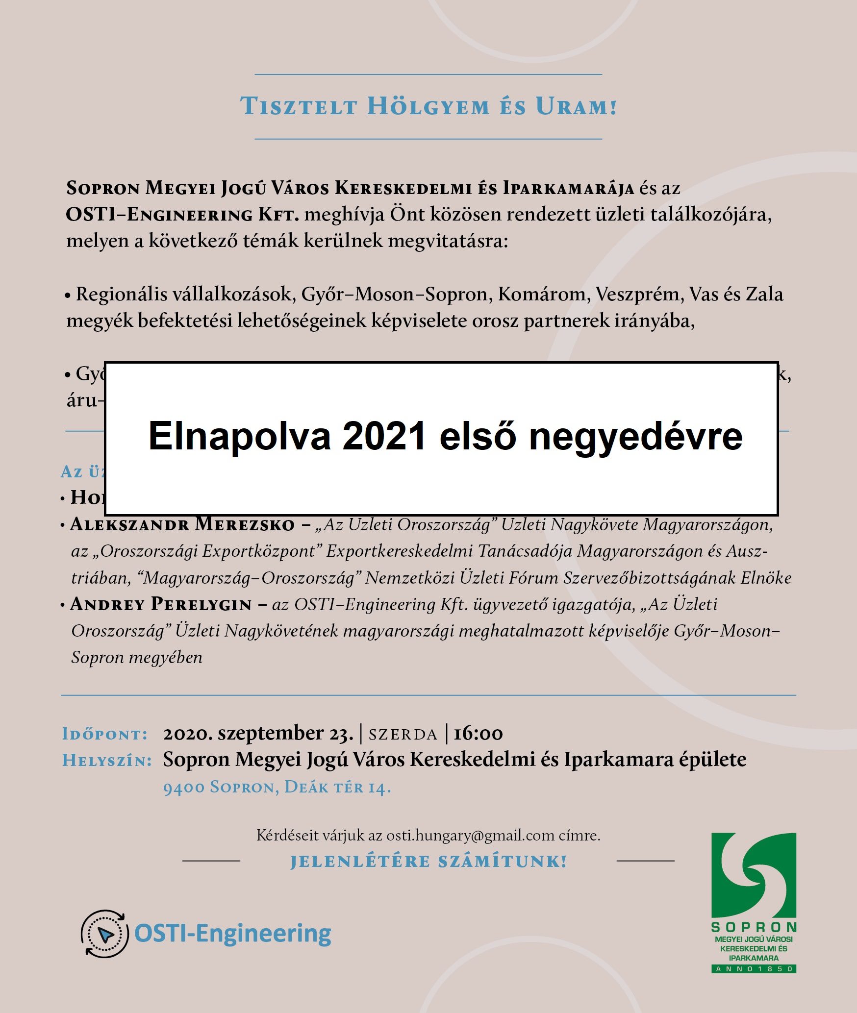 kereskedelmi hírek kezelése)