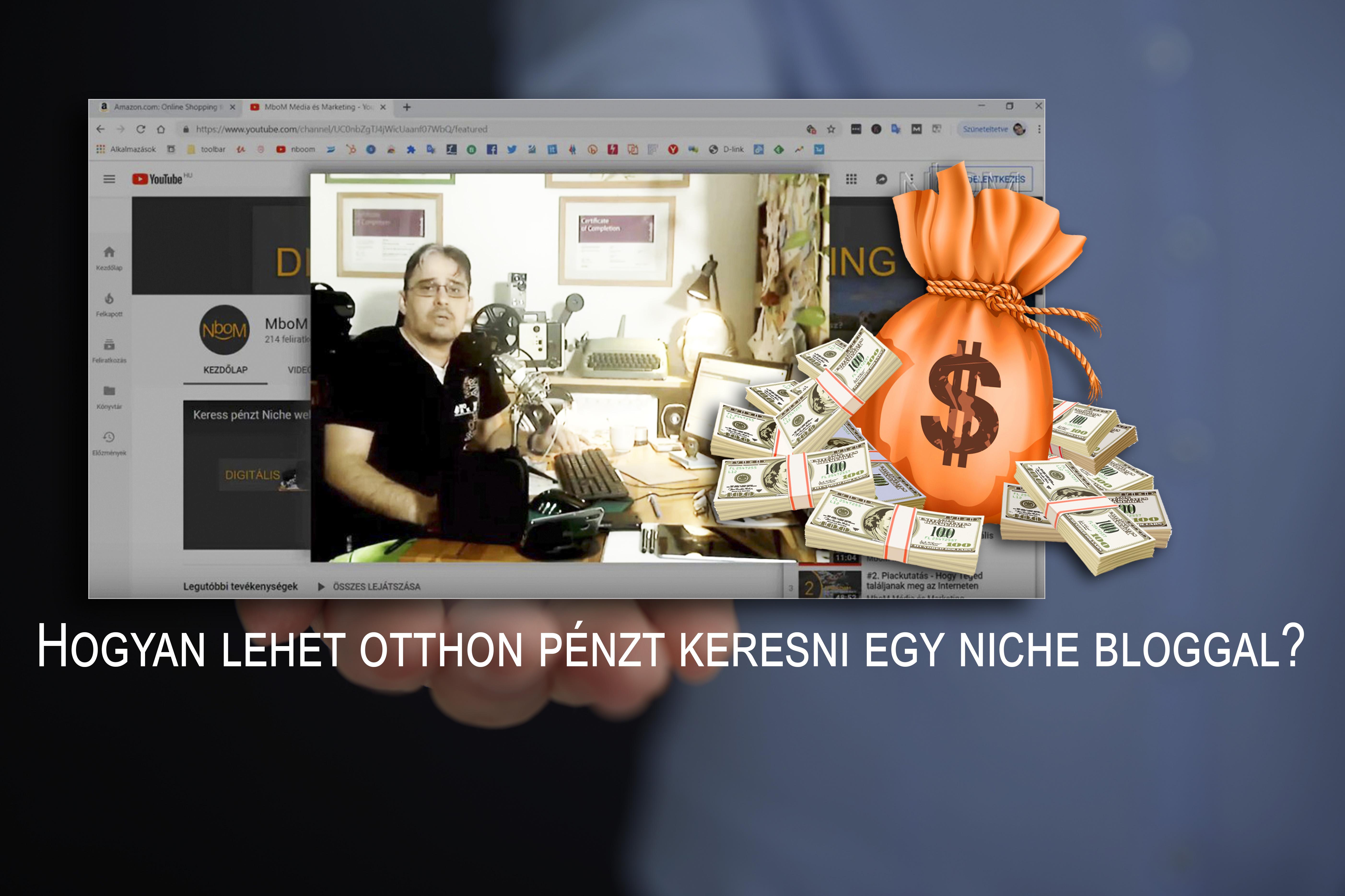 pénzt keresni weboldal