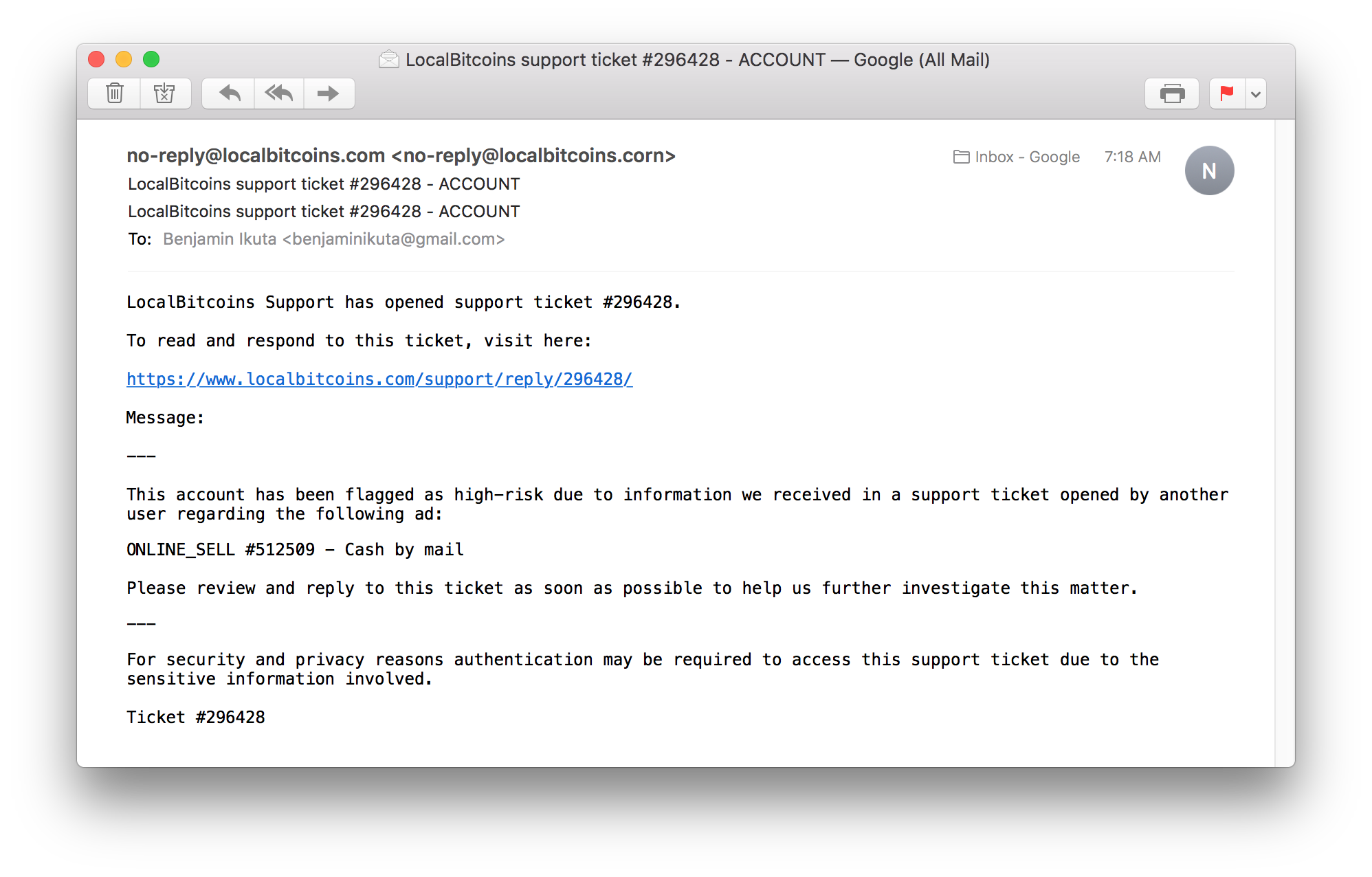 localbitcoins mail)