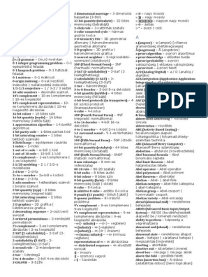 bináris opciók szótár)