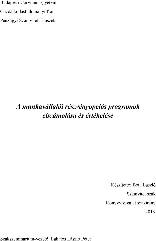 üzleti részvényopció)