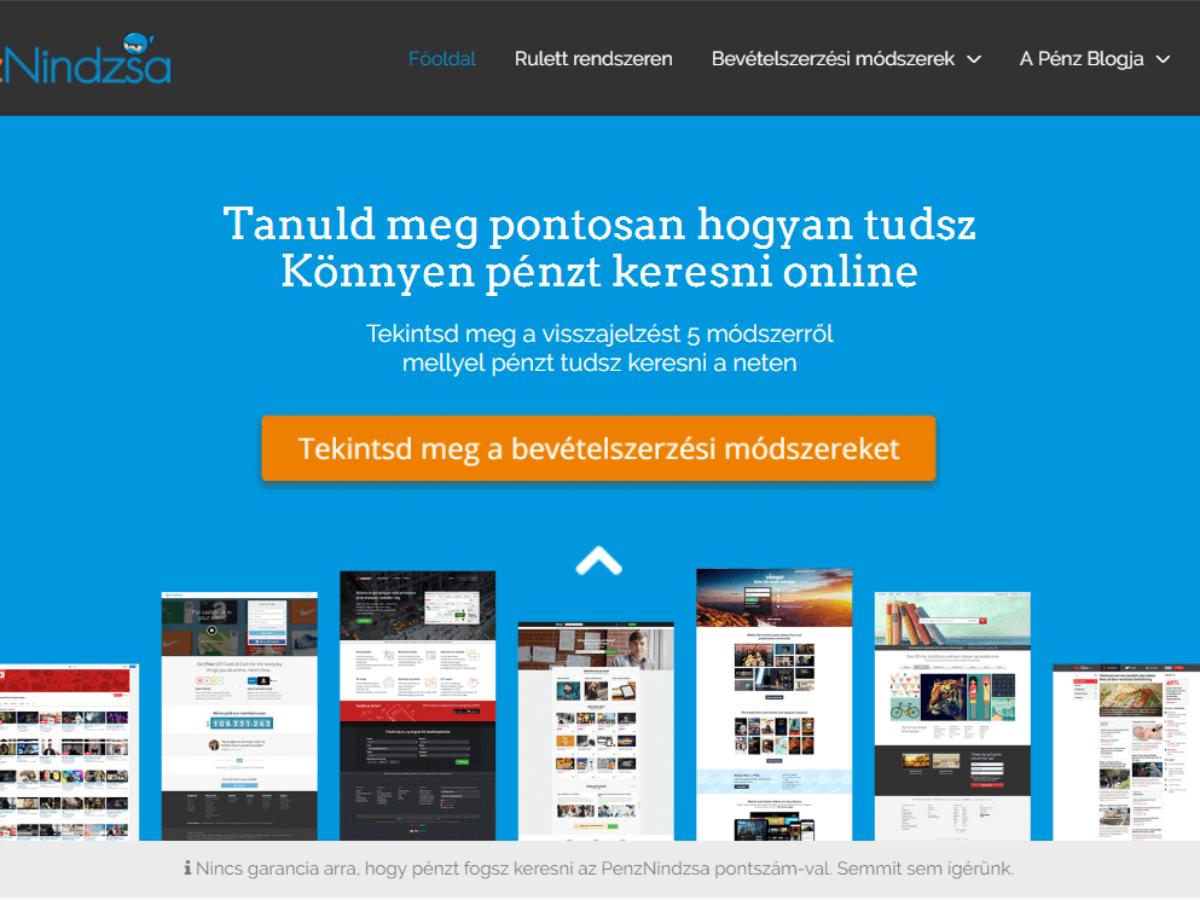 internet pénzt keresni