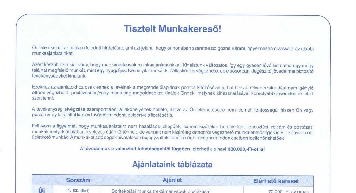 munka az interneten stabil jövedelem)