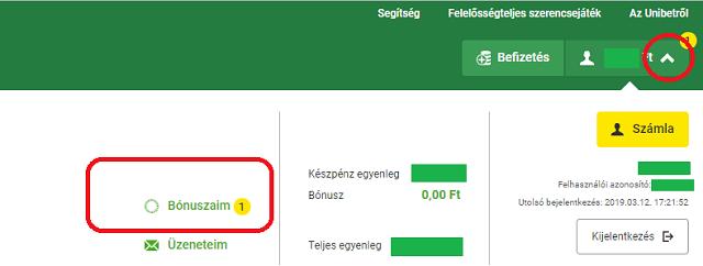 opció regisztráció bónusz)