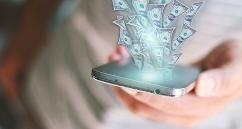 pénzt keresett mobilon