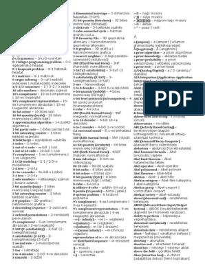 bináris opciók szótár